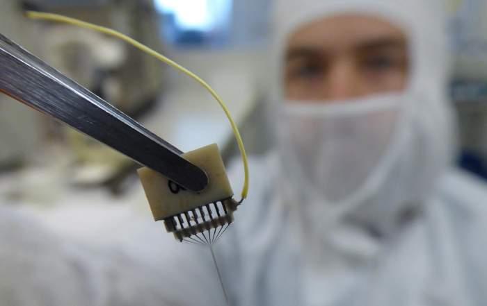Tűelektród, idegi implantátum - forrás: Fekete Zoltán